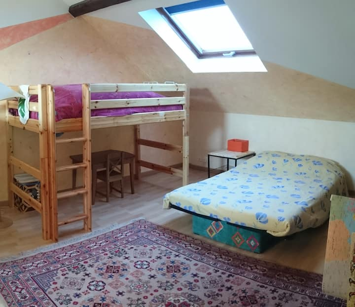 2nd floor room with kitchenet