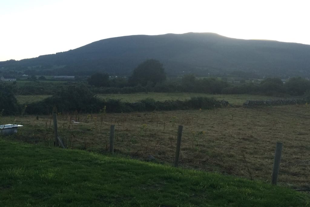 View of Slieve Gullion from back of house