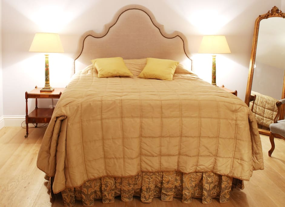 Large King-Size Bed with the most comfortable mattress in the world!