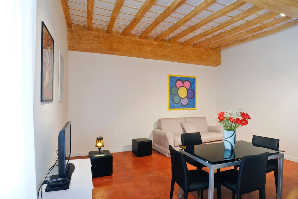 One bedroom holiday apartment in Campo de Fiori and near Castel Sant'Angelo - Living room