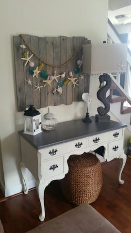 Desk  area in living room