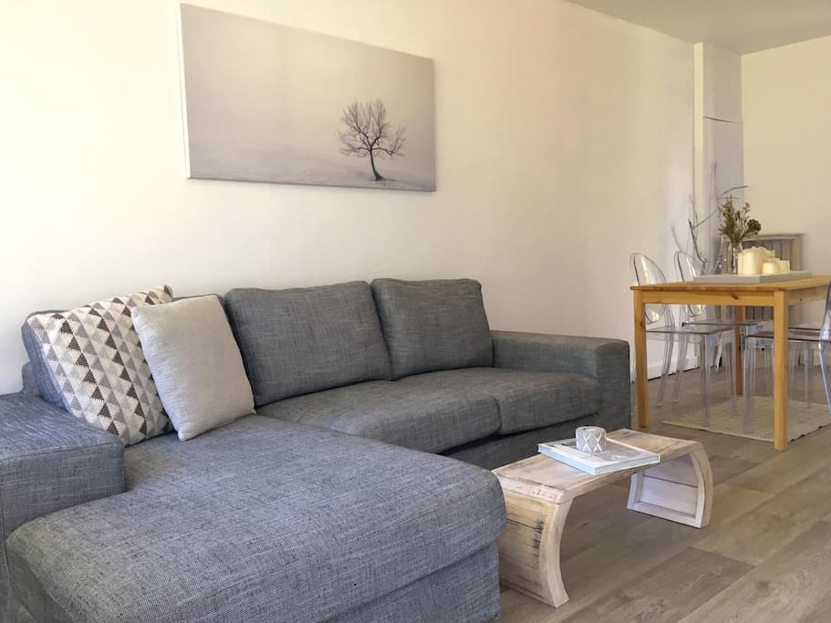 Comfy L-shaped couch