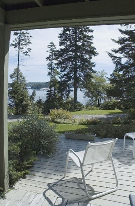 View from the deck of the cottage