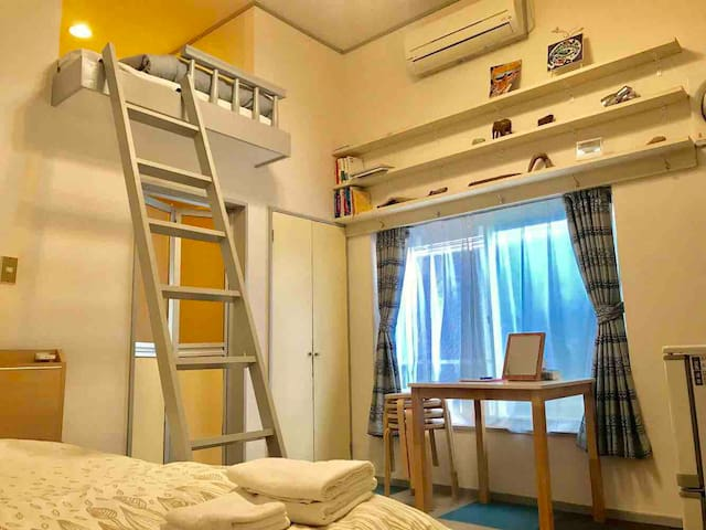 *E*Home WIFI & Compact & Tranquil Apt with LOFT!
