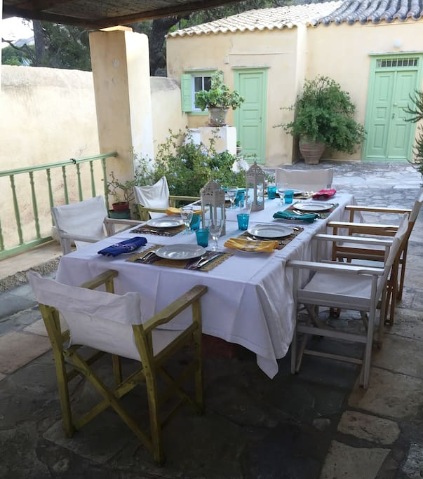 The spacious veranda is perfect for long lazy lunches