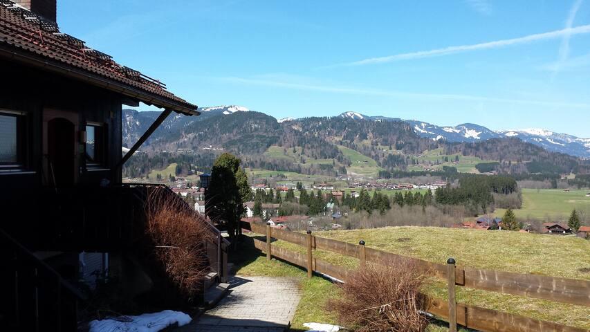 herrliche Maisonette mit Aussicht - Oberstdorf - Apartemen