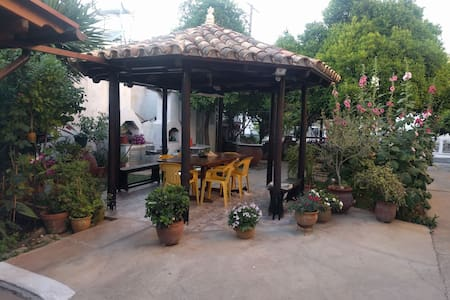 Studio with a garden in the center of Larnaca.