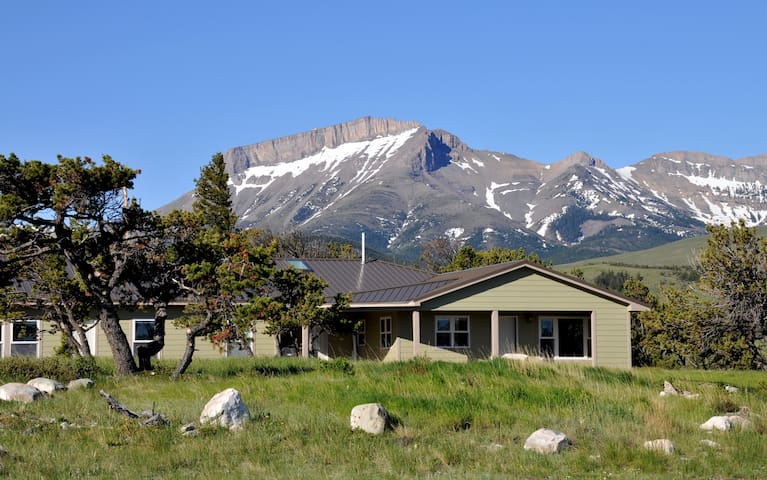 Rocky Mountain Front Retreat with Ear Mountain in the background