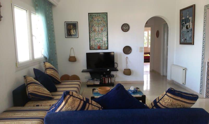 Salon avec vue sur mer; les canapés peuvent servir comme des lits