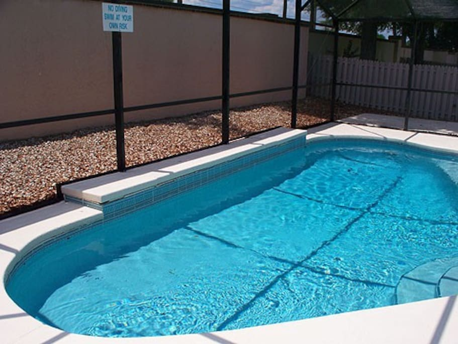 South facing Pool for great afternoon sun