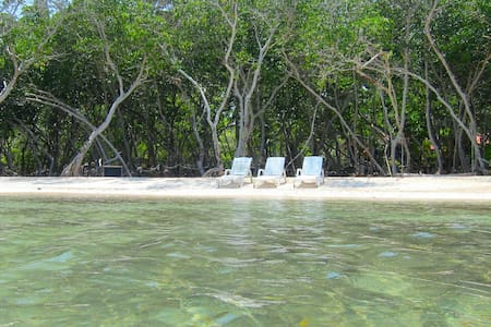 Island Cabin private beach pool bar - Isla Grande