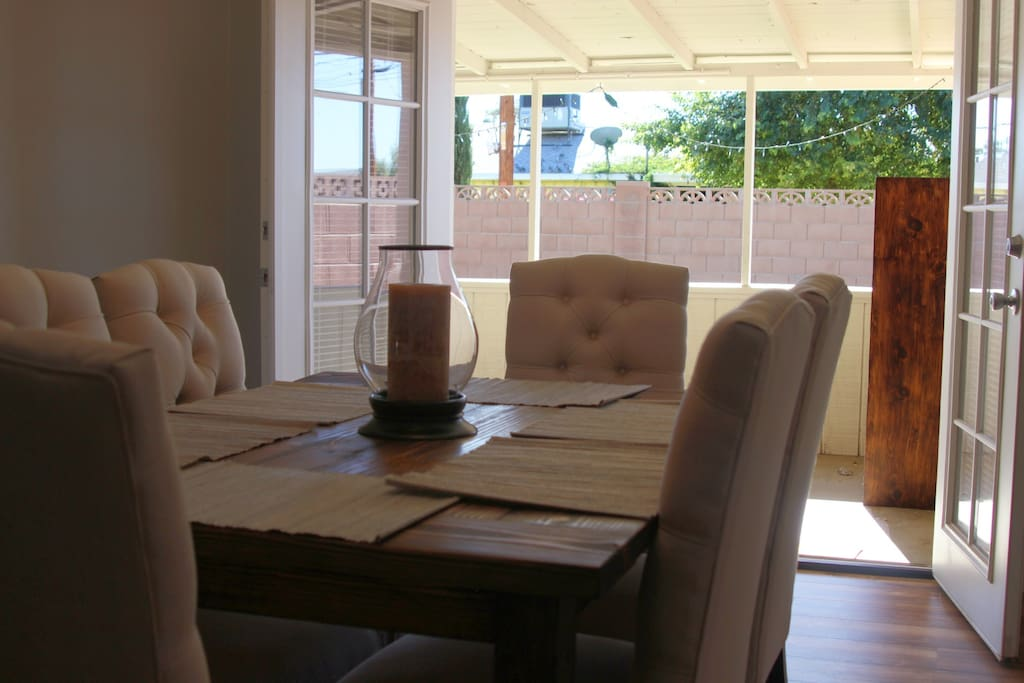 Dining room opens to back patio