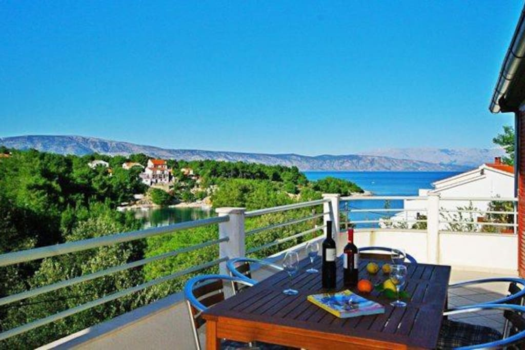 Your own terasse with stunning view