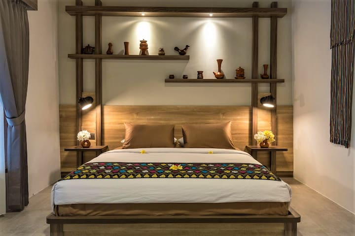 A comfy AC Room of your Palm Bungalow