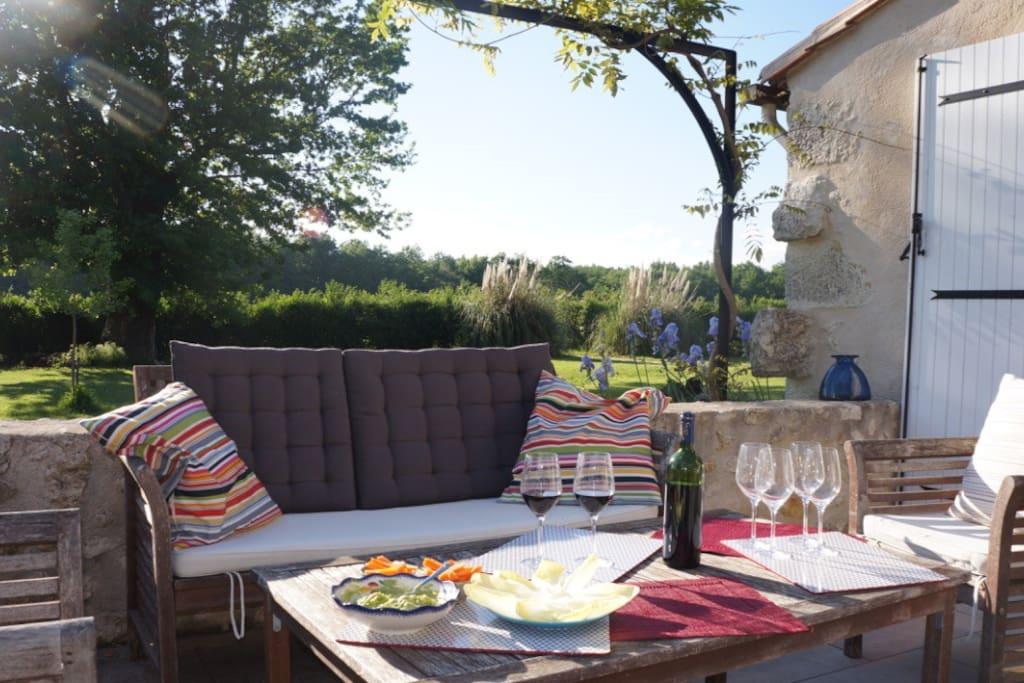 Salon de jardin, terrasse