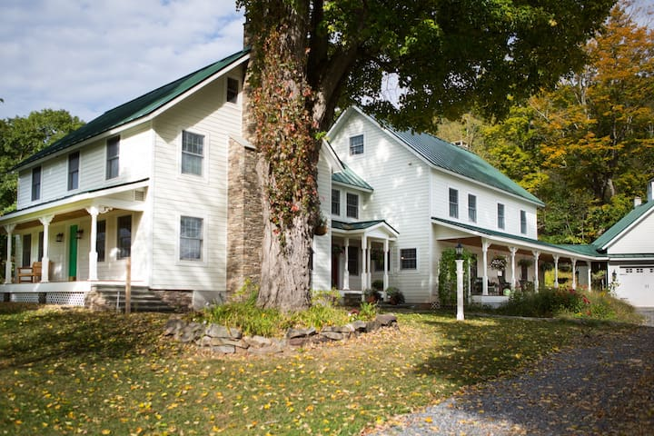 Lodging at Rosehedge, on 135acres in Roxbury, NY