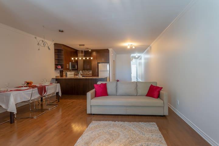 Beau et spacieux appartement meublé
