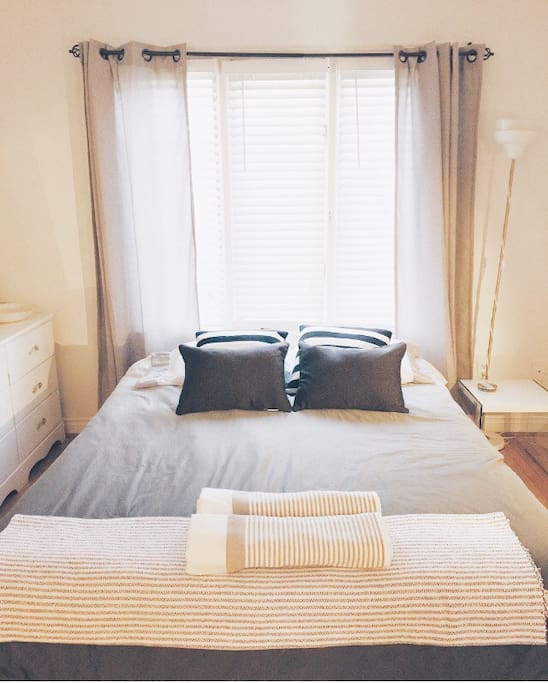 A clean and comfortable spacious room.
