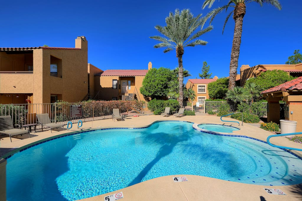 The Community Pool & Hot Tub are steps away from your front door!