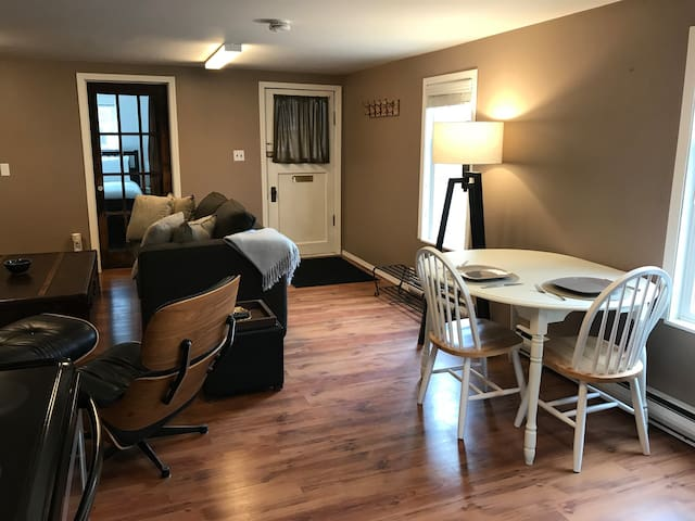 Open concept with King bed walking distance to all