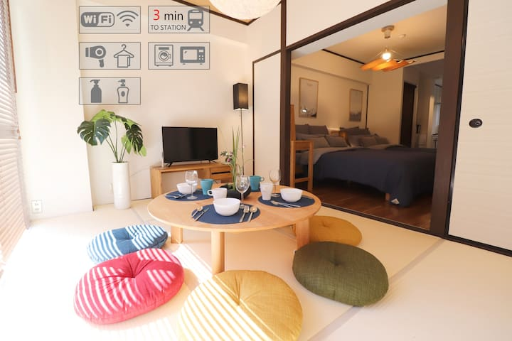 ☆NEWOPEN☆USJ☆3mins walk to Sta. Free WiFi in Osaka