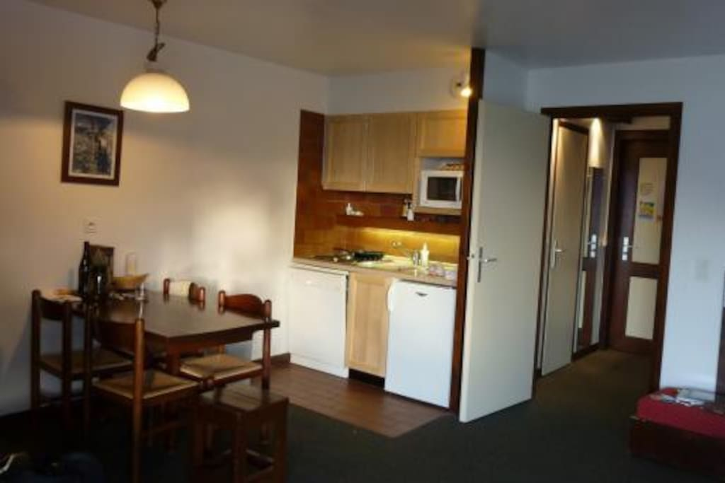 Cuisine salle à manger de l'appartement