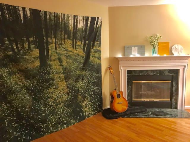 Minimalistic Art Room close to I-74!
