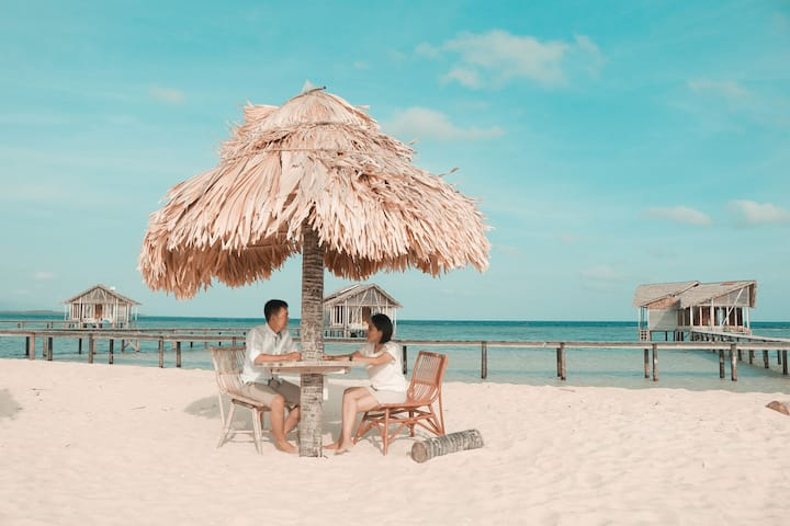 Raya kan Honeymoon mu di Pulo cinta