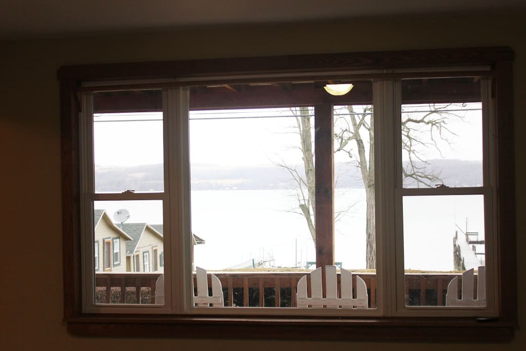 View of Cayuga Lake from Living room