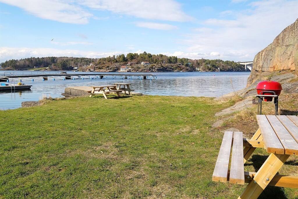 Kort avstand til Randineborg båthavn og strand med fellesområdet