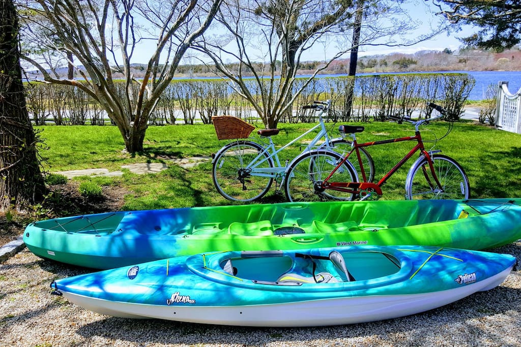Included Bikes and Kayaks