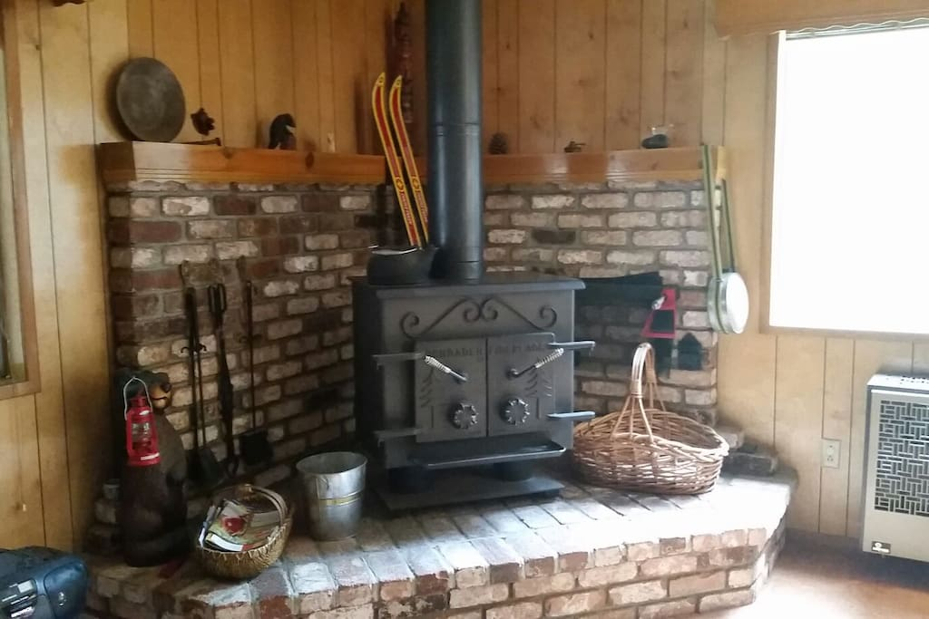 Wood burning stove for those cold winter nights.