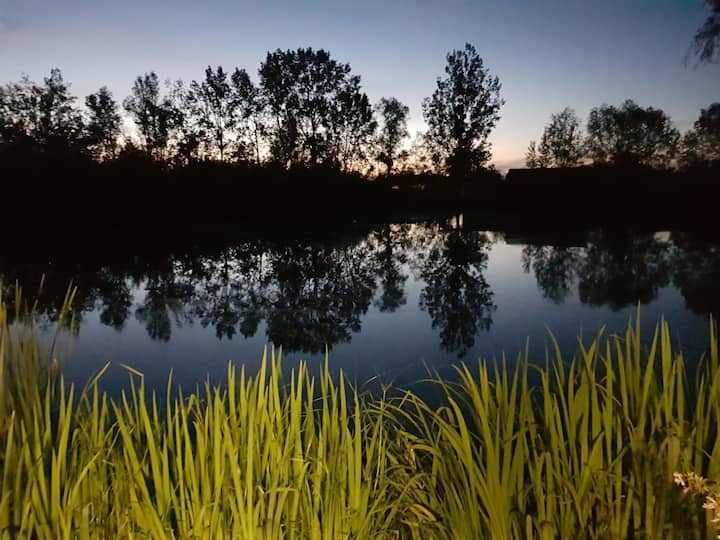 Mobilhome dans propriété privé avec étang...