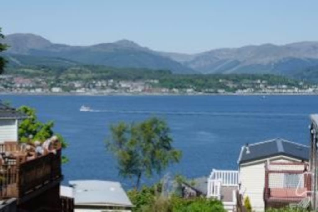 Absolutely glorious views over the river Clye to Dunoon and the Cowal Peninsula