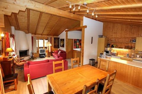 Chalet Caelia, (La Lécherette), 3 Schlafzimmer, 100m², 8 Personen
