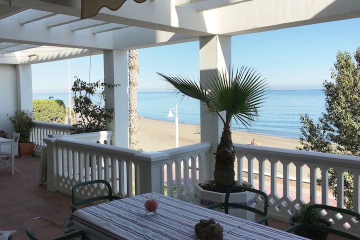 Beautiful house with large terrace by the beach