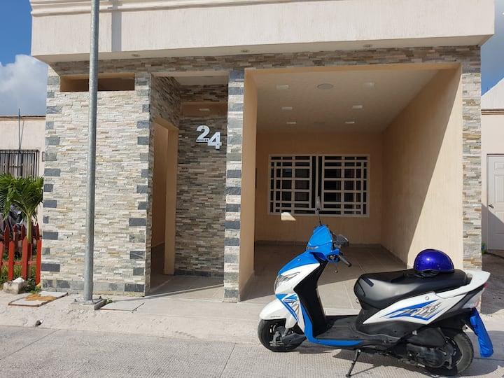 Ana's casa Cozumel con scooter incluida