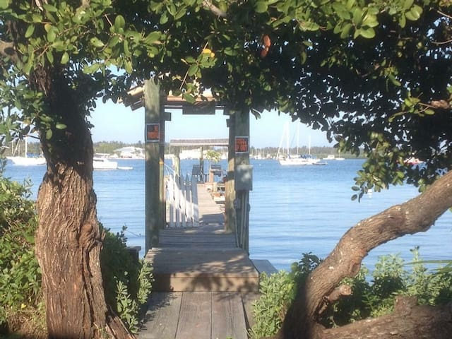 Entrance to our private dock on the Sarasota Bay.