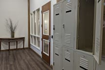 Lockers are available for free in the hallways (bring your own lock) to secure personal valuables. Each room is accessible using a unique keycard that limits access to the room solely to guests assigned that room.