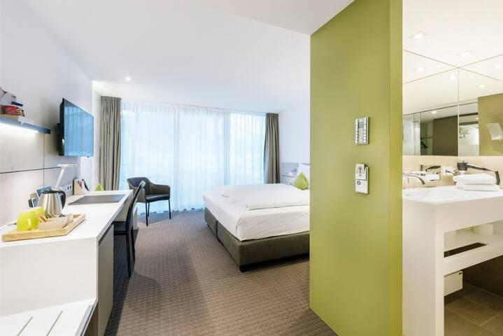 HGS³ KG - Das Konzepthotel, (Schelklingen), Junior Suite³ für bis zu 2 Personen