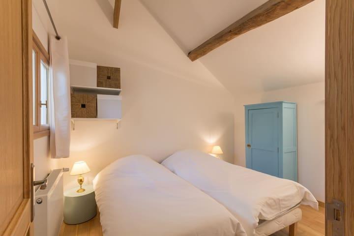Chambre deux lits simples modulables