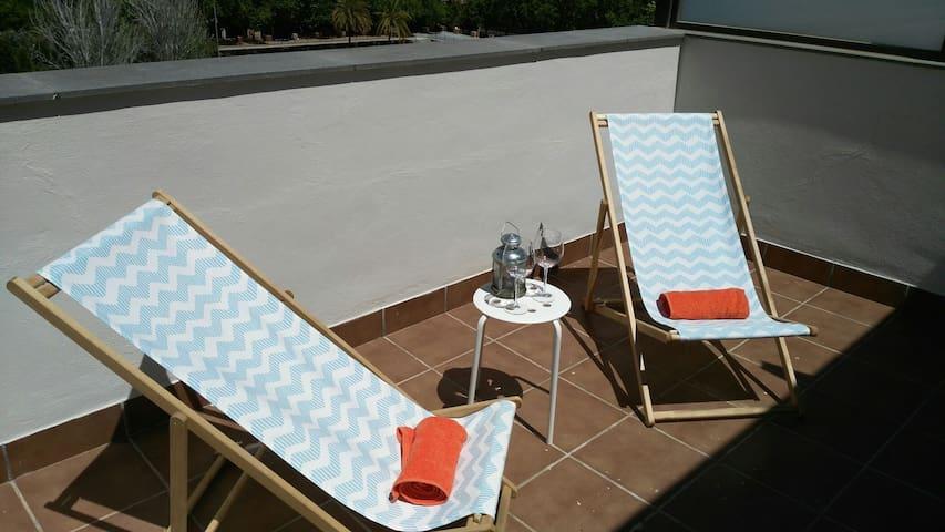 Private Studio Penthouse 2 terraces - Barcelona - Pis