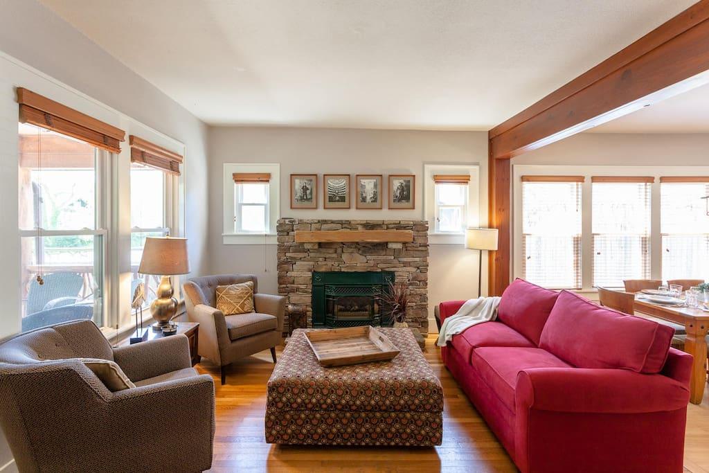 Main living area w/fireplace