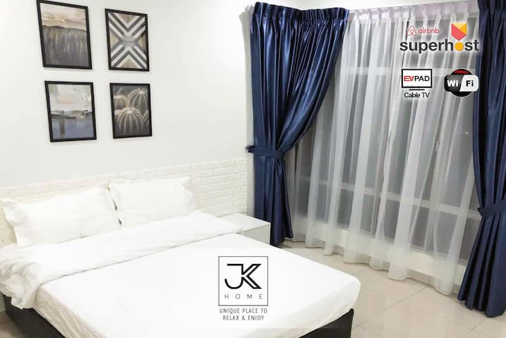 JB Town Capital 21 @ 2 BR + Portable wifi  1-6pax