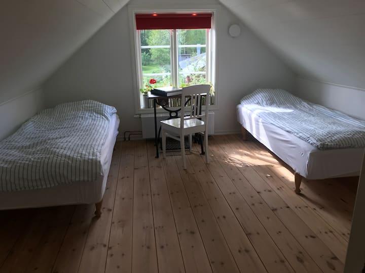 Det Lilla rummet med snedtak (elbilsladdare finns)