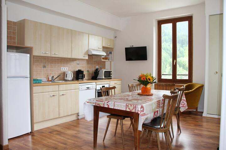 Grand appartement Les 7 laux en montagne-piscine - La Ferrière - Apto. en complejo residencial