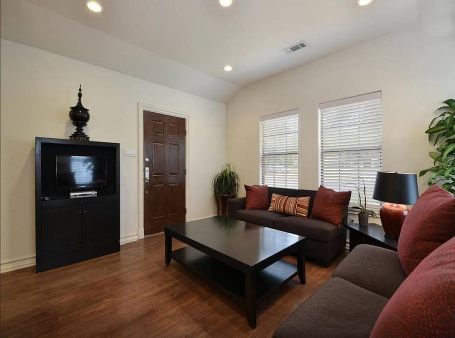 Hardwood floors and lots of natural light.
