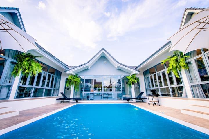 欧式田园风私人泳池别墅,机场免费接送 The Garden Chiangmai Pool Villa