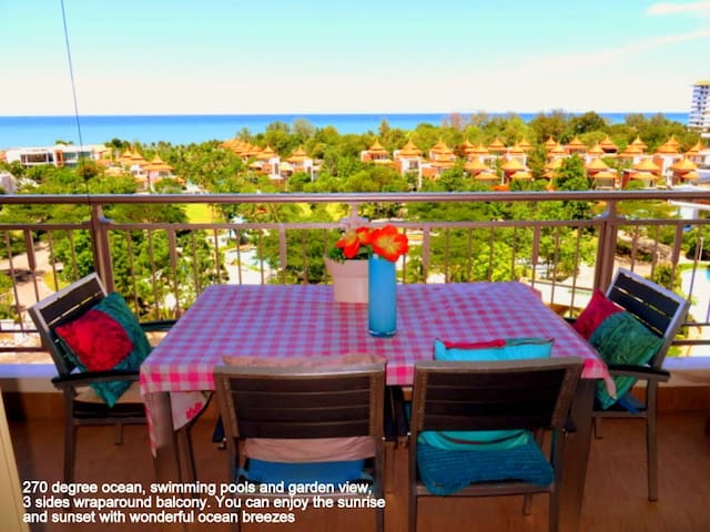 Condo C 2 bedroom; wraparound balcony and seaviews