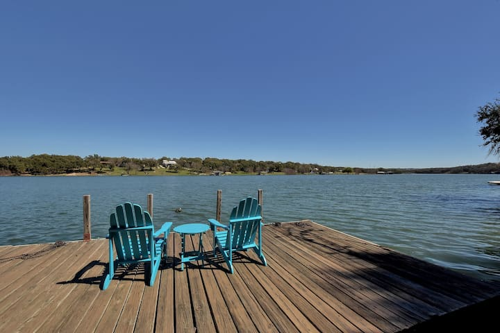 Lakefront Spicewood Home w/ Dock - Spicewood